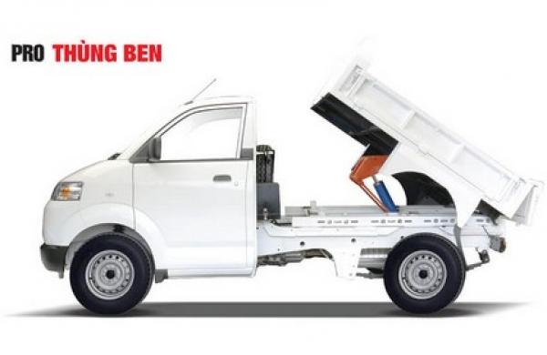 Đánh giá ưu nhược điểm mẫu xe tải hạng nhẹ Suzuki Pro thùng ben